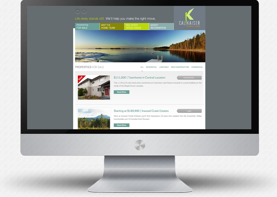 Cal Kaiser Website: Property Listings