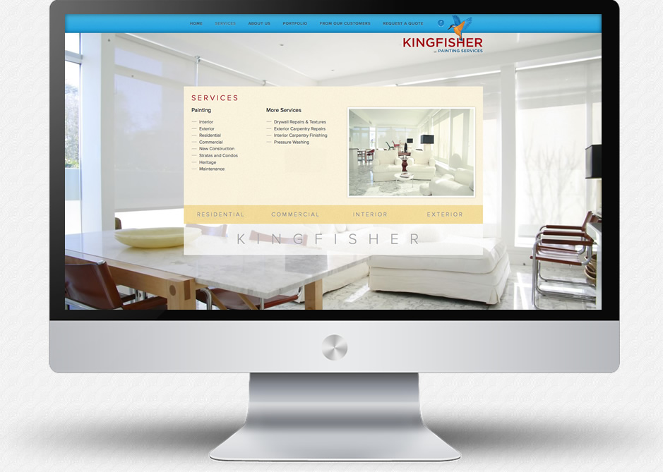 Kingfisher Painting Website: Services