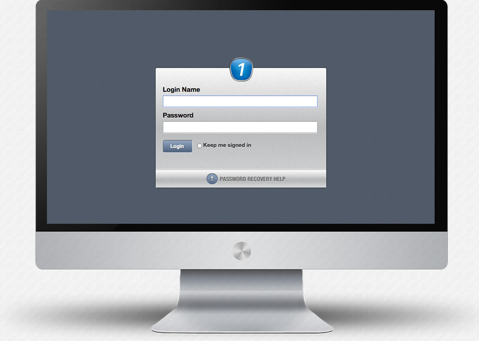 1to1Real Application: Login Screen