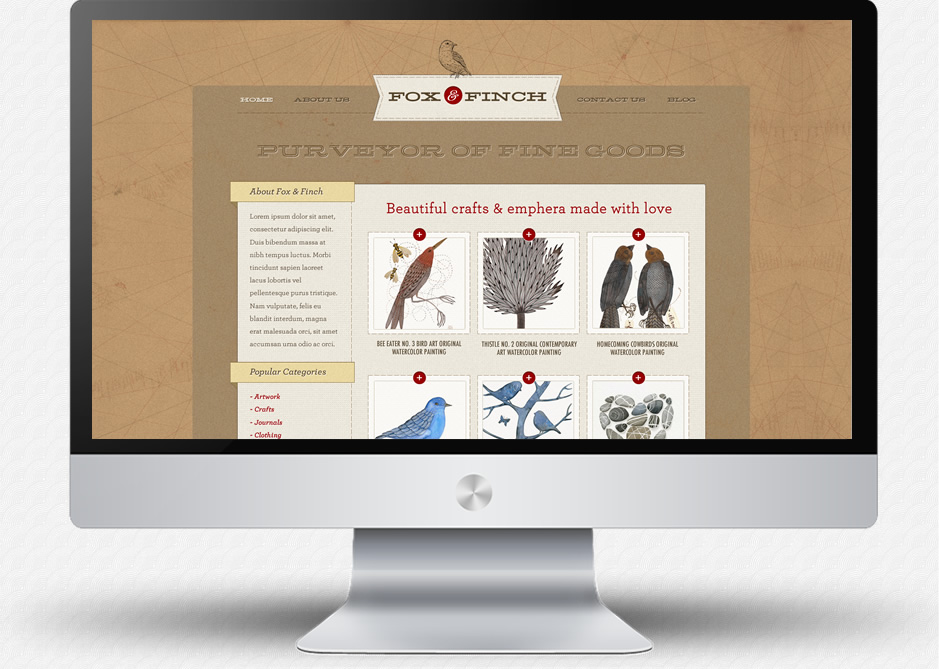 Fox & Finch: Homepage