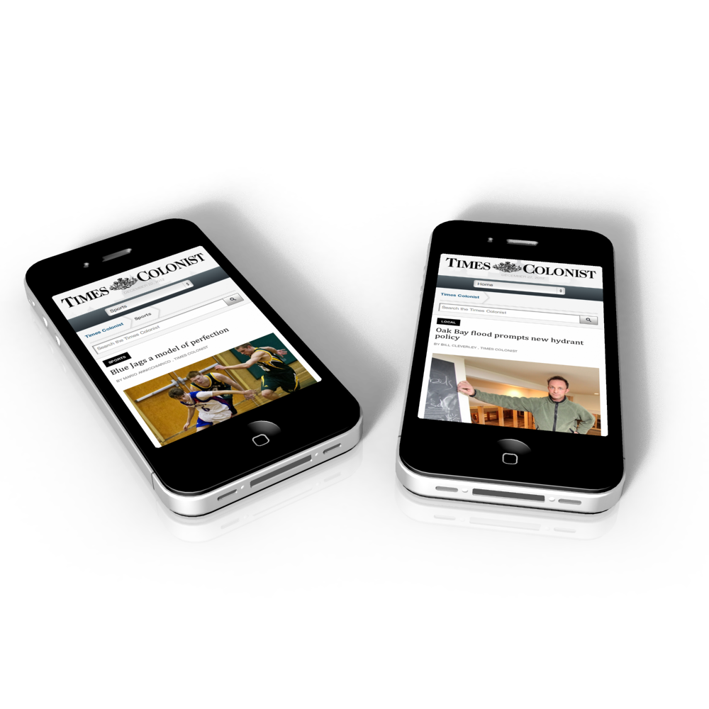 Times Colonist Responsive Implementation for mobile devices